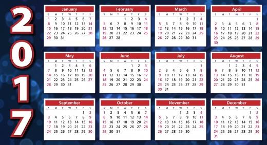 Kalender Jahresrückblick