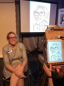 Karin ladler wird gezeichnet