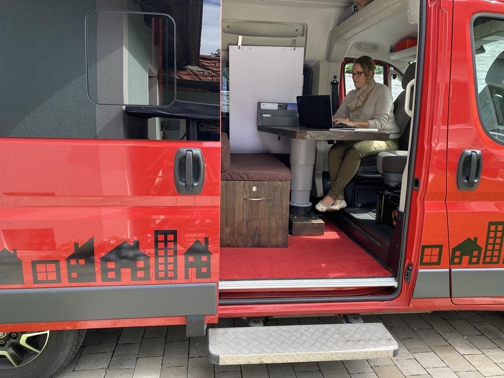 Das mobile Büro von Karin Ladler Immobilien