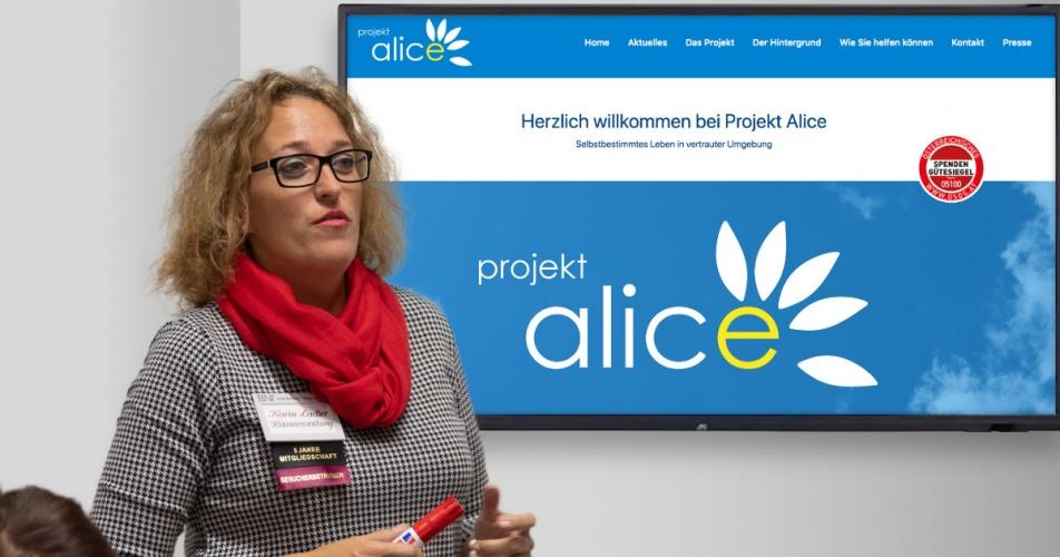 Karin Ladler stellt Projekt Alice vor